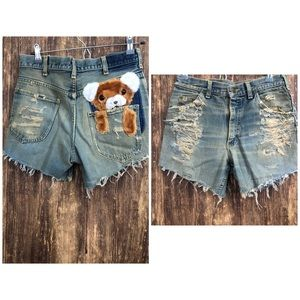 Lee Homemade Distressed Look Shorts sz 30